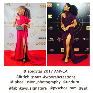 Isn't This Too Cute?! See Pictures Of Little Girl Who Recreated Rita Dominic & Adesua Etomi's Red Carpet Looks at #AMVCA2017