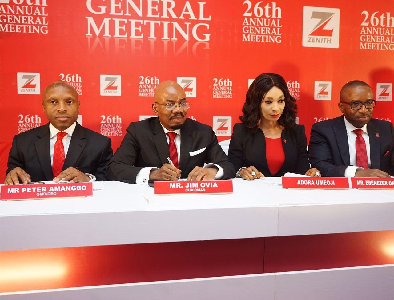 Zenith Bank Shareholders Approve N63.4bn Dividend, Applaud Performance