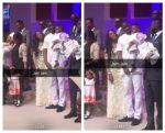 Tiwa Savage, Husband Teebillz And Son Jamil In Church Today