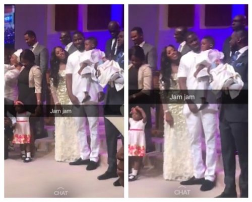 Tiwa Savage, Husband Teebillz And Son Jamil In Church Today