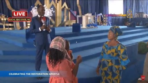 Photos: Stephanie Otobo's Mother & Sister Storm Omega Fire Church To Beg Apostle Suleman