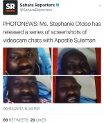 Breaking! Ms. Stephanie Otobo Releases Screenshots Of Video Chats with Apostle Suleman