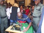 Ahead Of World Women's Day, Governor Fayose Shows Off Sewing Skills( Photos)