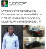 Uber Driver Flees With Employers Car In Abuja