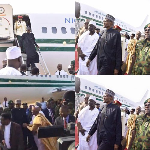 Photo Speak: President Buhari Arrives Nigeria After 2 Months Vacation