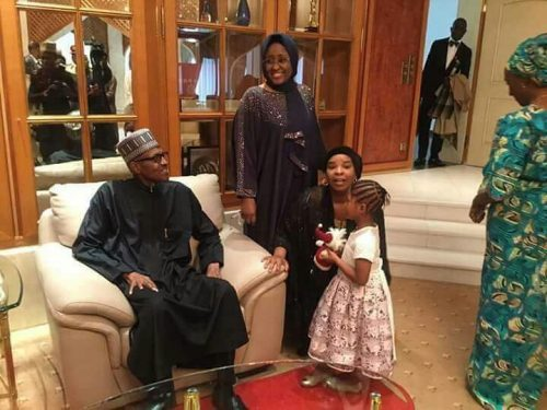 Photo Speak: President Buhari's Wife Aisha And Family Welcome Him Back To Aso Rock