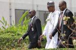 Photos Of President Buhari Back At Work Today