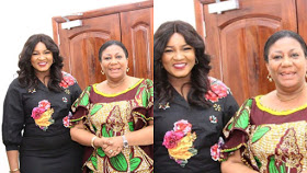 Ghana's First Lady, Rebecca Akufo-Addo Meets Actress, Omotola Ekeinde