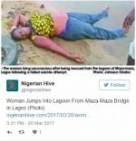Woman Jumps Into Lagos Lagoon In Desperate Suicide Attempt