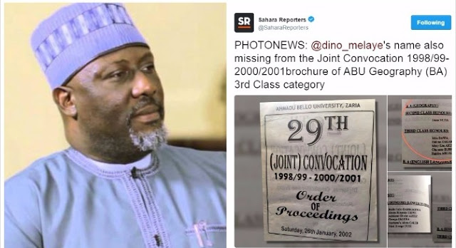 Certificate Mess: Dino Melaye's Name Missing In Convocation Brochure For His Alleged Graduating Set