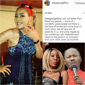 "Ask God For Forgiveness & Sin No More"" – Actress, Shan George Wades Into Apostle Suleiman's Sex Scandal"