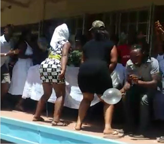 Scenes As Zimbabwean Prostitues Shut Down Funeral Of Colleague With Twerks [Video]