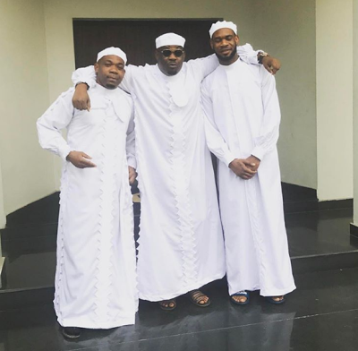 Don Jazzy and His Brothers Step Out Wearing C&S White Garments