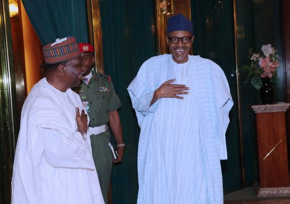 Photos: President Buhari Hosts Gen. Yakubu Gowon at State House, Abuja