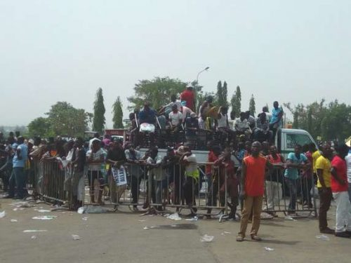 Protesters Storm National Assembly Over Ndume's Suspension