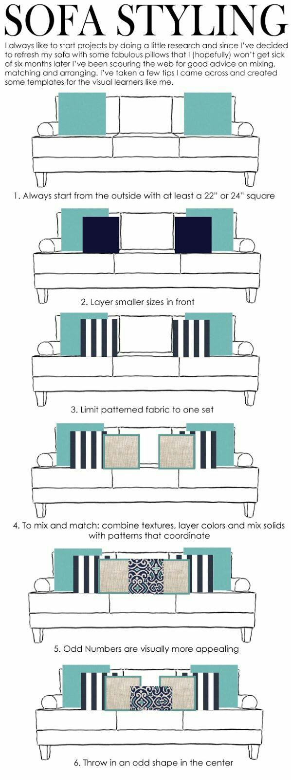 Interior Design Ideas: Throw Pillow Arrangement For Your Living Room