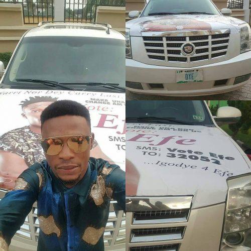 Comedian I Go Dye Brands Car In Support Of Efe