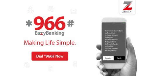 Zenith Bank To Reward *966# Eazy Banking CustomersWith Airtime Giveaway