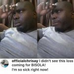 Devout #Teambisola Fan Weeps Profusely Over Bisola Losing N25,000,000 Prize Money To Efe