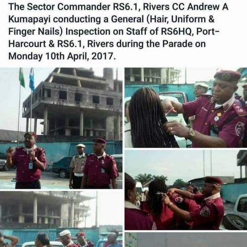BREAKING: FRSC Recalls Sector Commander, Officers Who Cut Female Officials' Hair