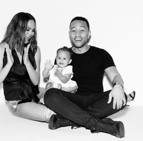 John Legend And Wife Chrissy Teigen Celebrate Daughter Luna As She Turns 1