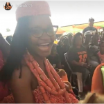 Ex #BBNaija Housemate,  Marvis Dressed In Traditional Attire For Grand Reception At Her Home Town