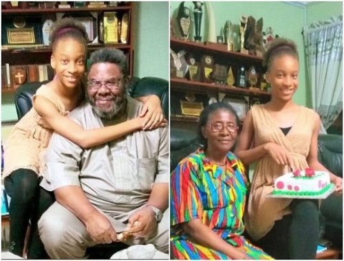 Awww! Veteran Actor, Pete Edochie's And His Wife Pictured With Their Grand Daughter