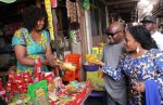 PHOTO: Governor Wike,Wife  Bargain With Traders At Local  Market