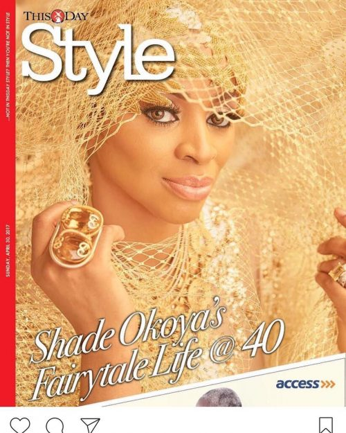 Shade Okoya Covers Thisday Style As She Turns 40