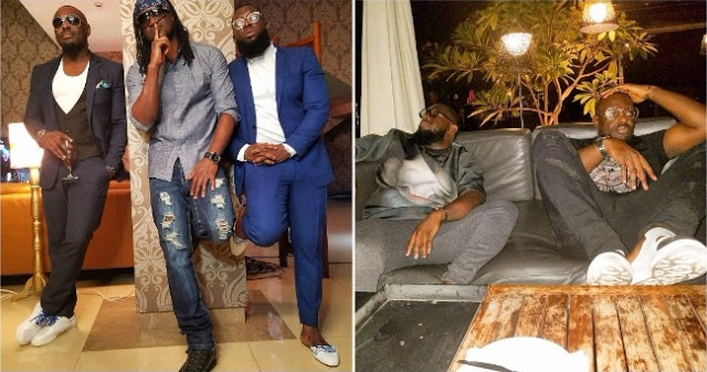 Something Cooking? Jim Iyke Drops Hints as He's Spotted With Paul Okoye and Timaya [Photo]