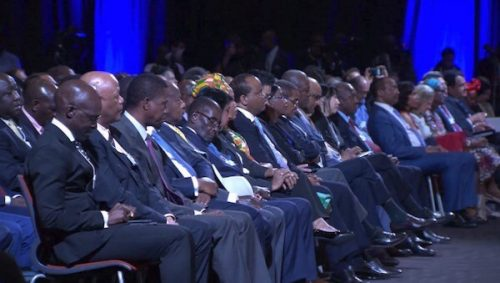 President Mugabe Caught Sleeping At World Conference