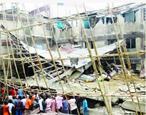 SO SAD! Caretaker And Five-Year Old Killed In Lagos Collapsed Building
