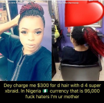 """""""Haters, I'm Your Mother"""" , #Bobrisky Says After Making Braids  For N95,000 In The US"""
