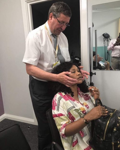 Domestic Violence : Actress Mercy Aigbe Visits Maxillofacial Surgeon In The U.K.