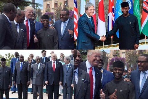 Acting President Yemi Osinbajo Attends G7 Summit, Meets Macron, Trump