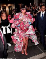 #MetGala: Fashion goddess Rihanna Steals The Show In OUTRAGEOUS Tiered Flower Petal Comme Des Garcons Gown