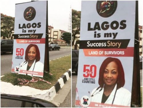 Disssapointed Nigerian Photoshops Nigerian Hero Dr Adadevoh's Photo Into Lagos At 50 Banner
