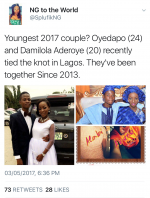 See Photos Of 24 Year Old Boy And 20 Year Old Girl Who Got Married Yesterday In Lagos