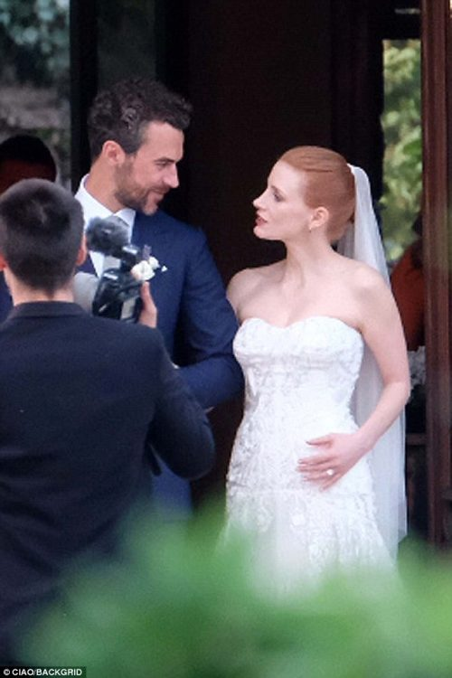​Actress Jessica Chastain Marries Long Time Fiance Gian Luca Passi de Preposulo In Italy
