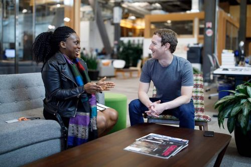 Mark Zuckerberg Meets Lola Omolola, Founder Of Facebook Female Only Group Female in Nigeria (FIN)