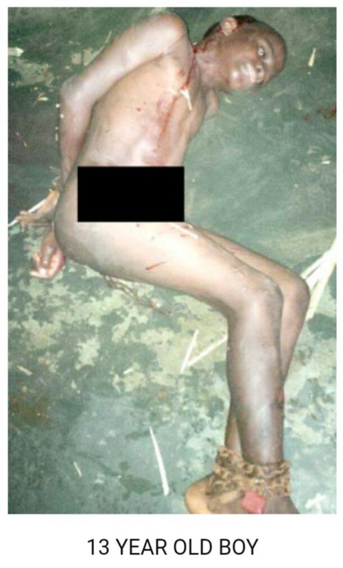 WHY?! Teenager Stripped Naked And Chained By Father Over N2000
