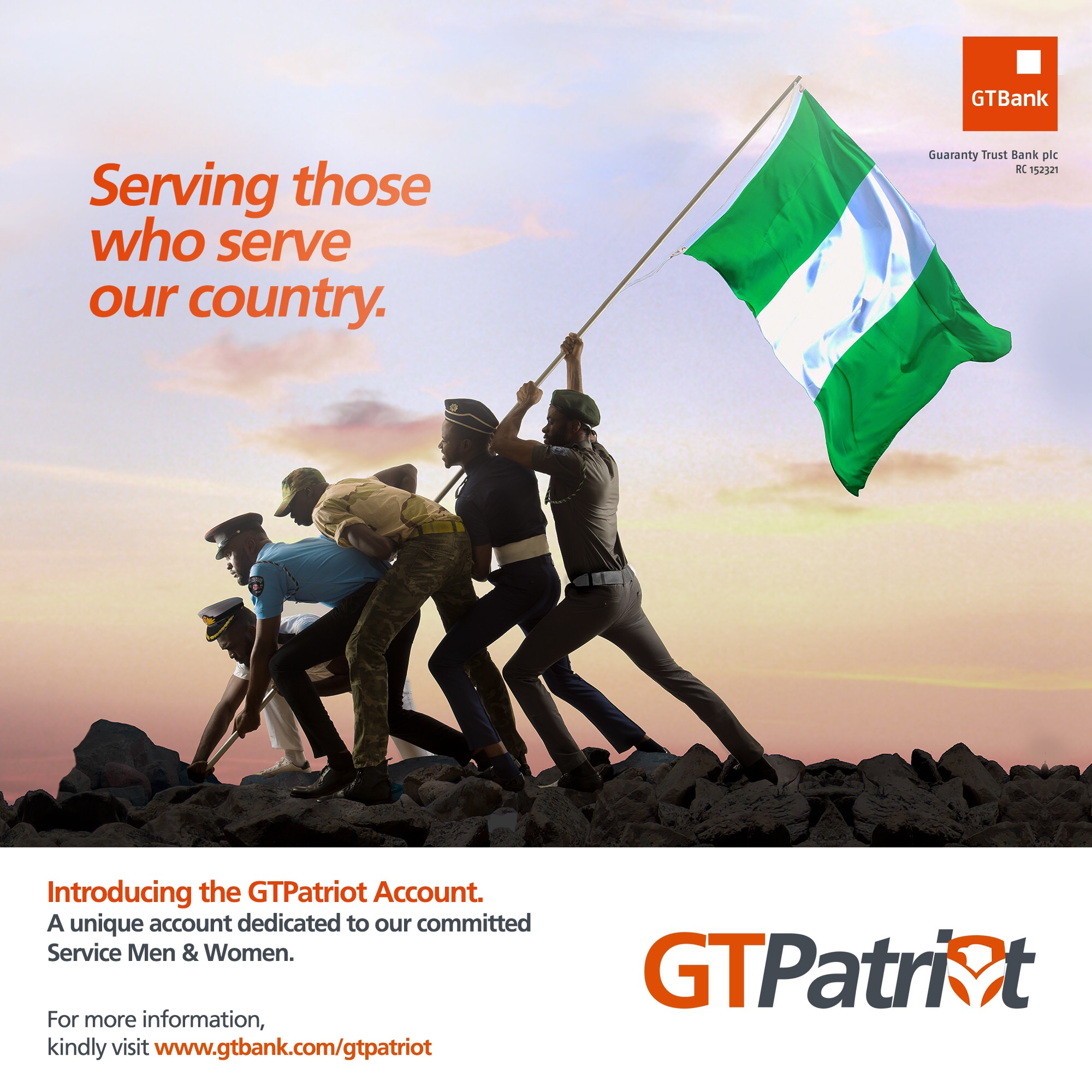 GTBank Launches GTPatriot, A Subsidized Banking Package For Nigeria's Military And Paramilitary Personnel