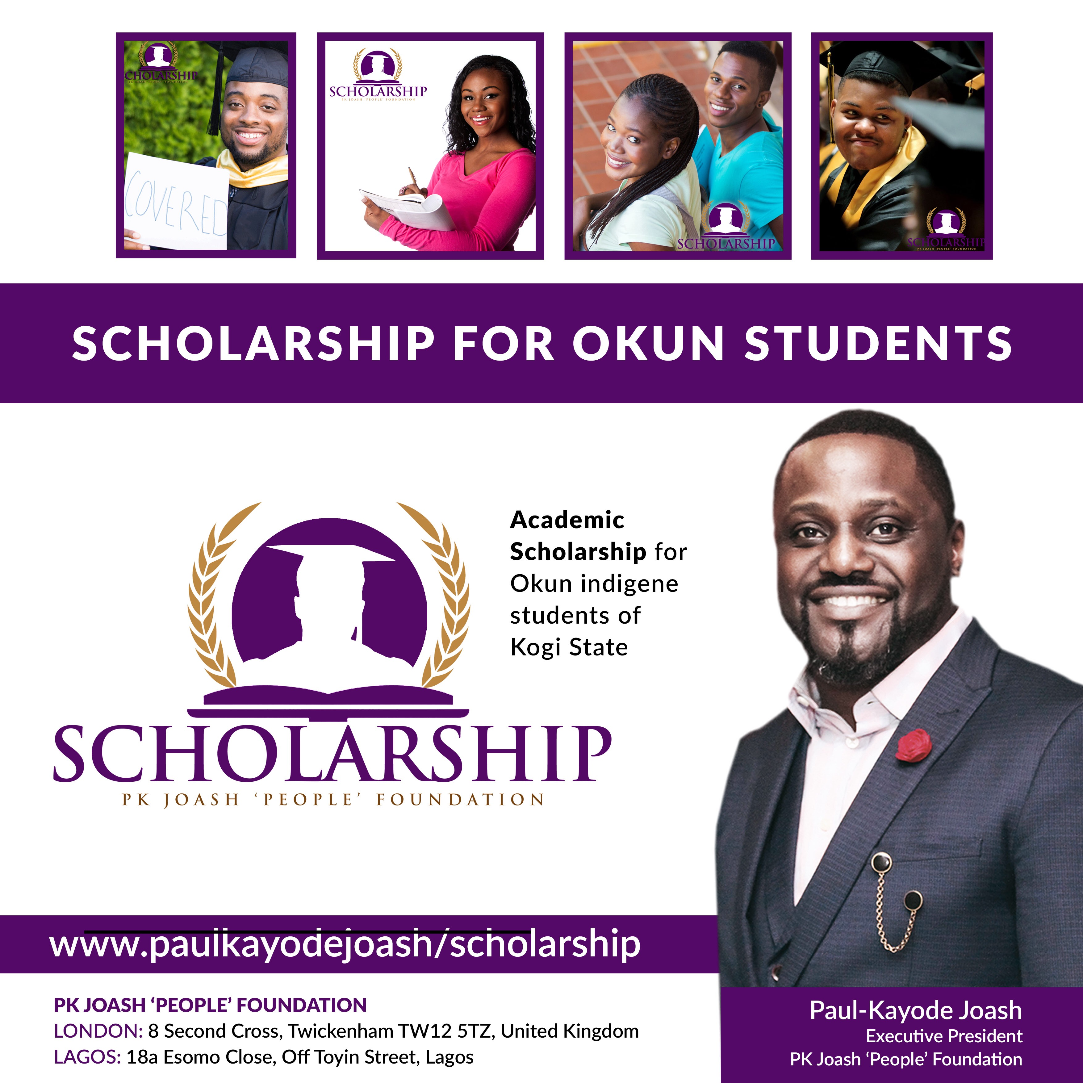 242 Okun Students Selected For Academic Scholarship Screening By PK Joash 'People' Foundation