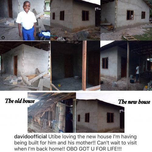 Davido Builds House For Utibe, Boy Whose Video Of 'If' Went Viral And His Mum