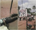 Photos: Barber Electrocuted In Imo State( Viewer Discretion)