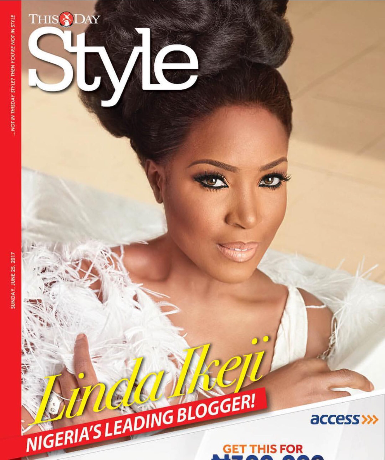 Linda Ikeji Stuns On The Cover Of Thisday Style