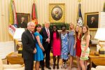 Donald and Ivanka Trump Host Two Escaped Chibok Girls At The White House