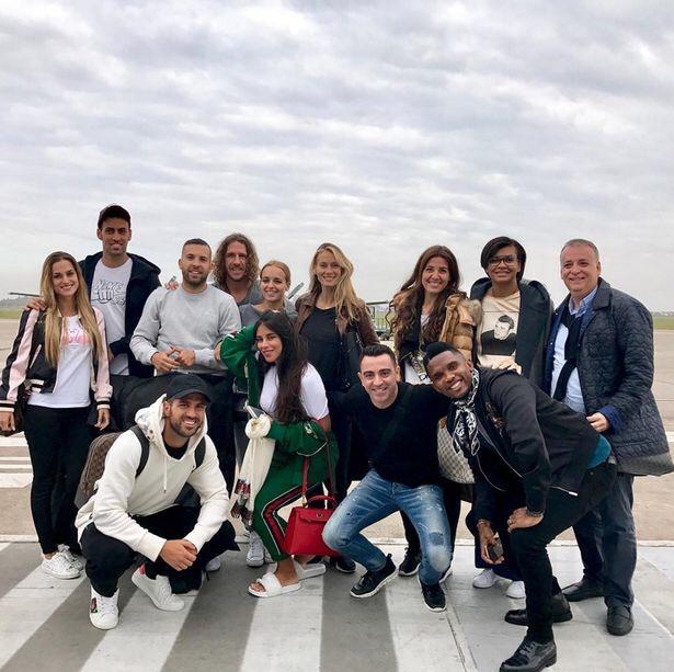 Barcelona Stars Arrive Argentina For Messi's Wedding