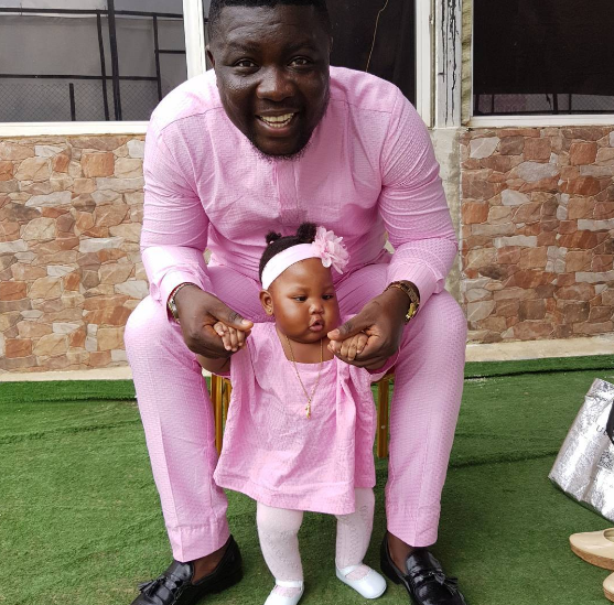 So Cute: SeyiLaw And Family Rock Pink Matching Outfits For Father's Day (Photos)