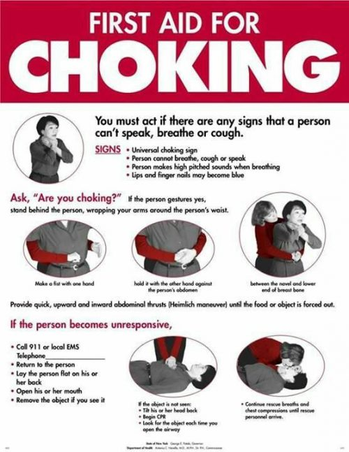 FIRST AID: What To Do Around A Choke Victim